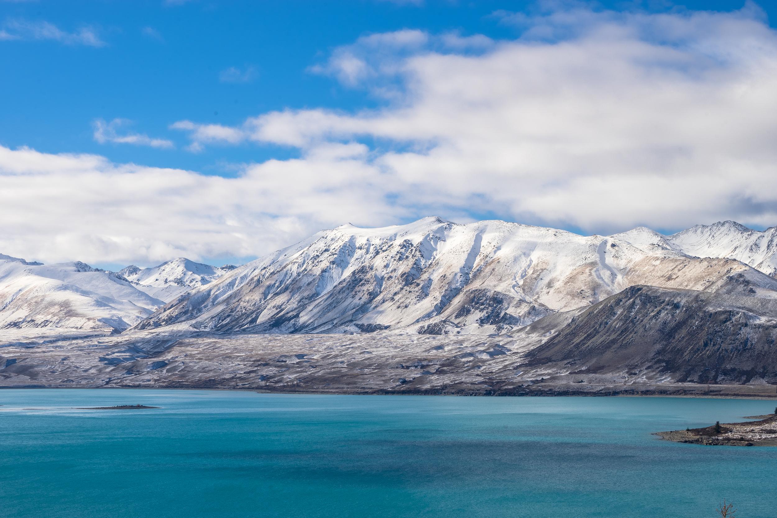Snowy mountains surround Lake Tekapo