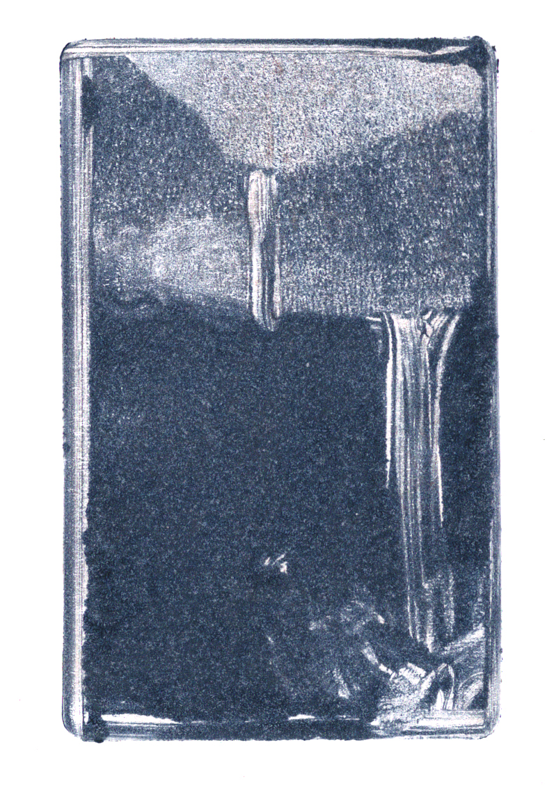 A monotype print on paper by Clive Knights from his Falls collection