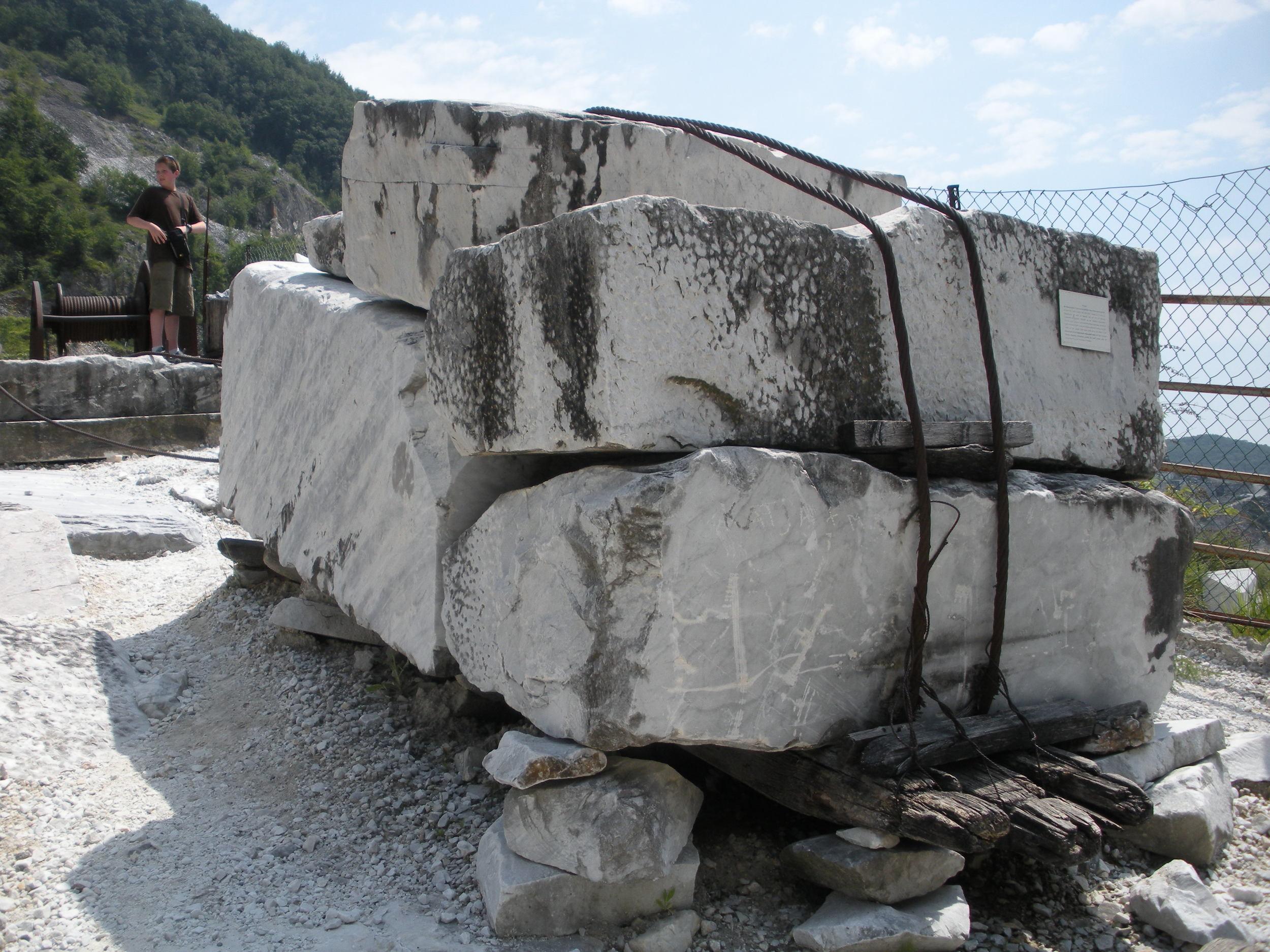 Massa Carrara marble ready for sculpting