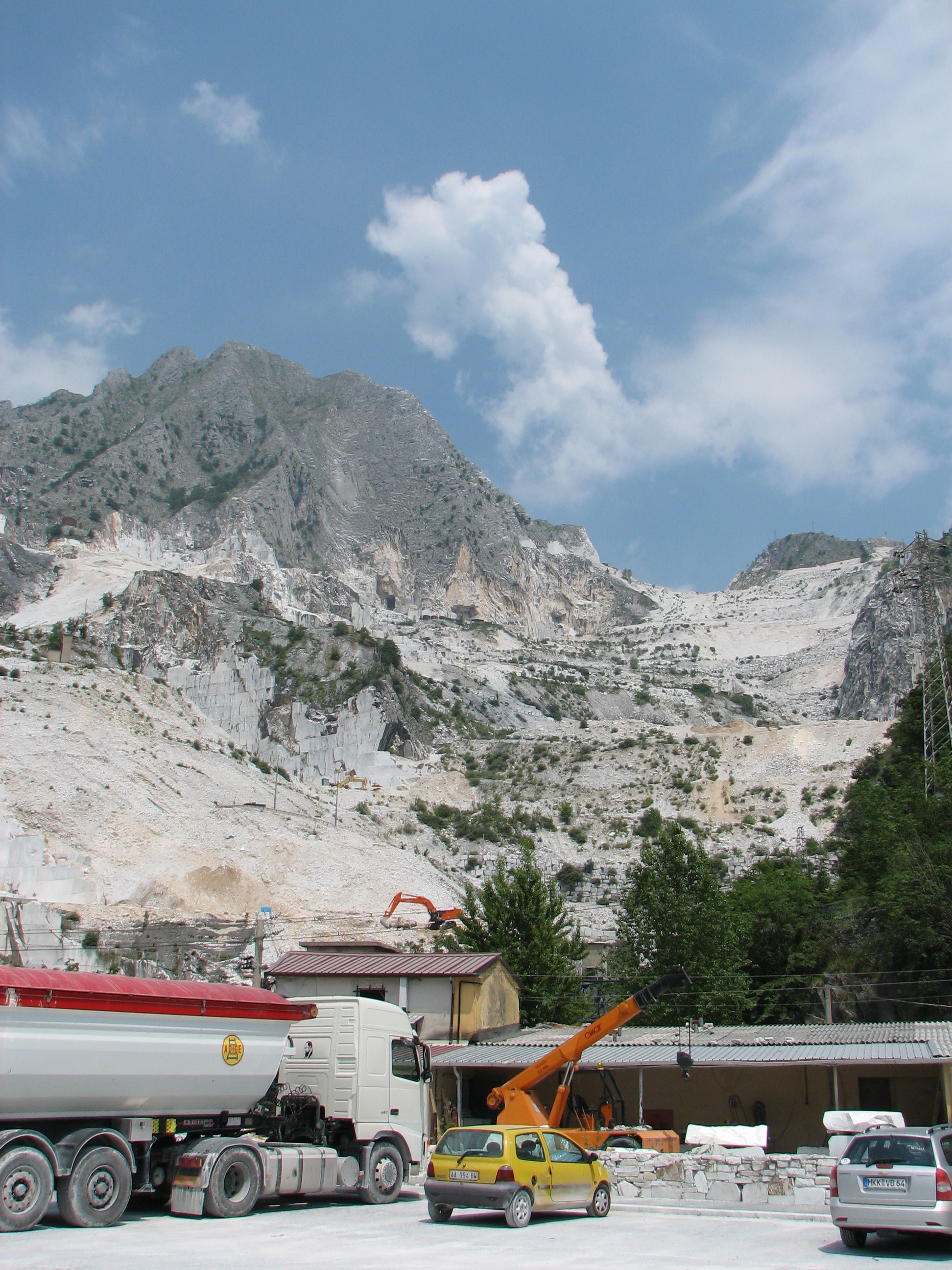 Massa Carrara marble mine 2010