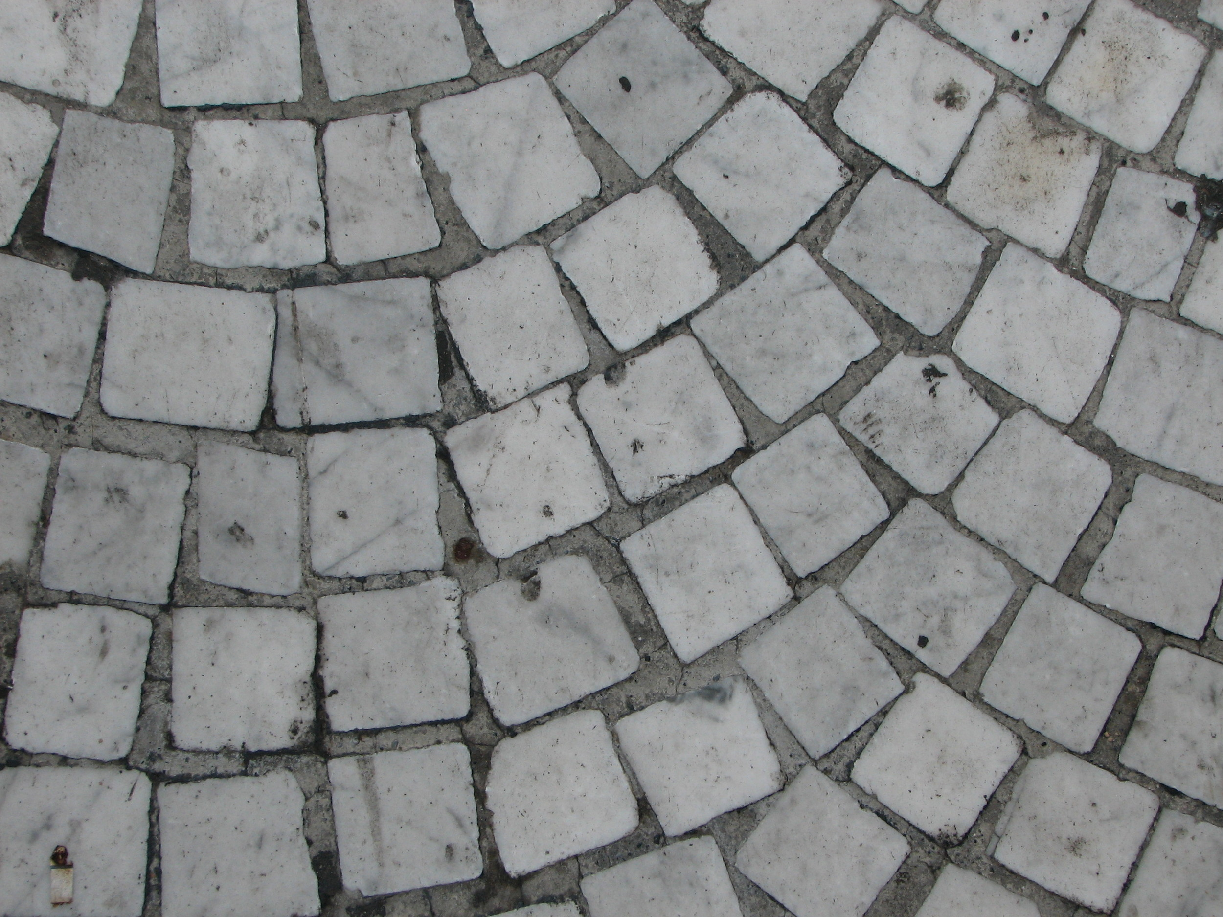 Marble tile floor or road, Italy