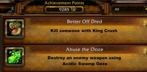 An example of how creative Hearthstone achievements could be - using the already existing names & artworks of WoW achievements