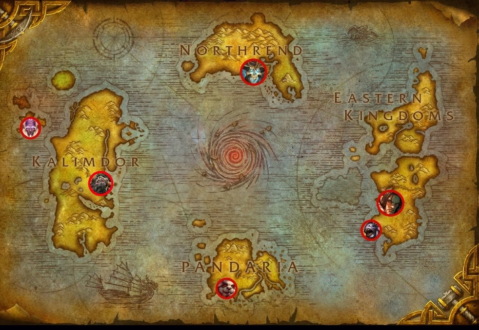 An example of an achievement/progress tracker in Hearthstone, showing you all the achievements you've obtained and/or all the Legendaries you have faced so far, in context with the WoW lore