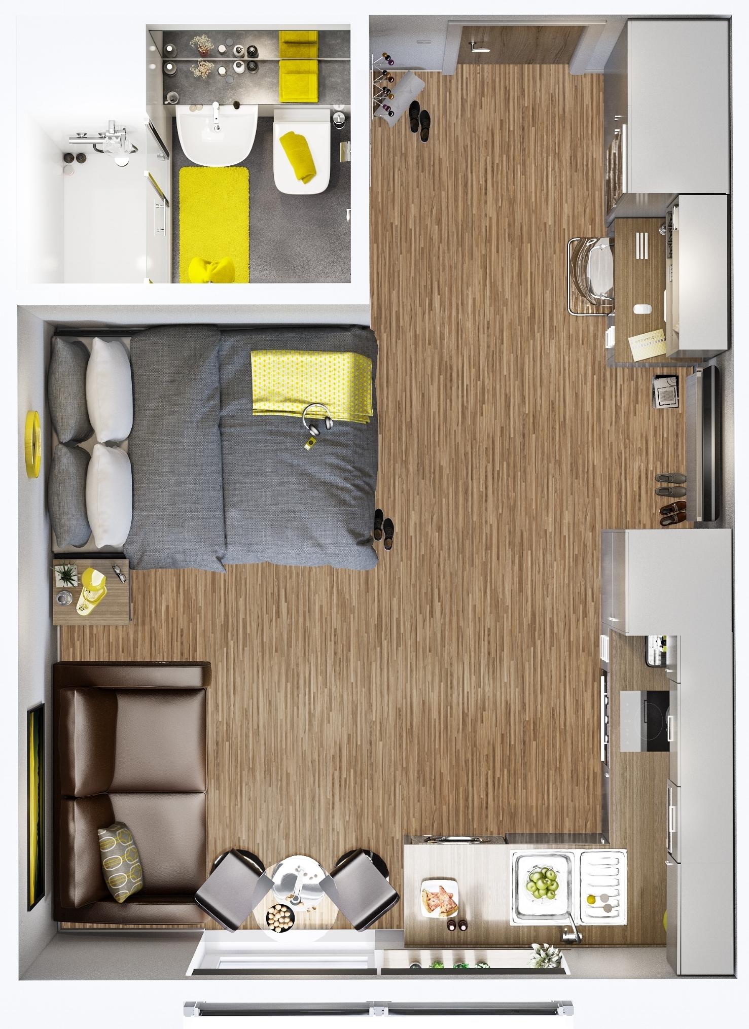 Superior Studio Floor Plan