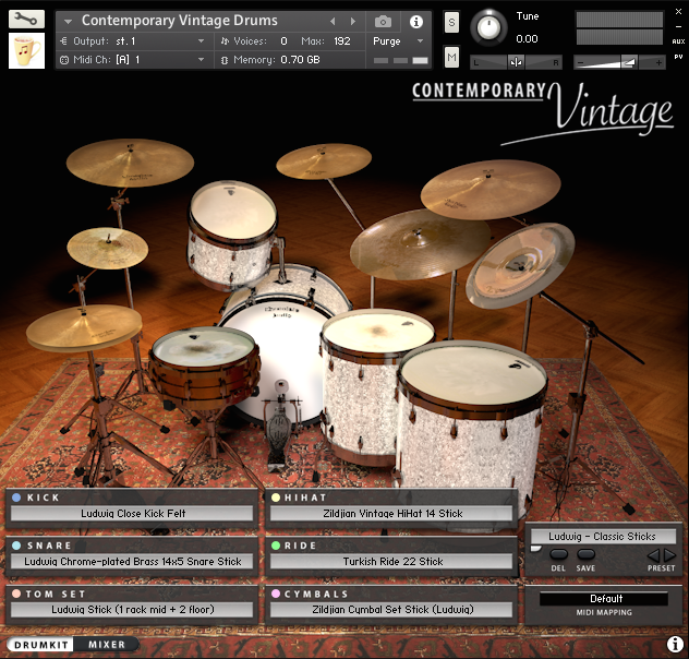 Ludwig Kit Drum Kit Page - 3D