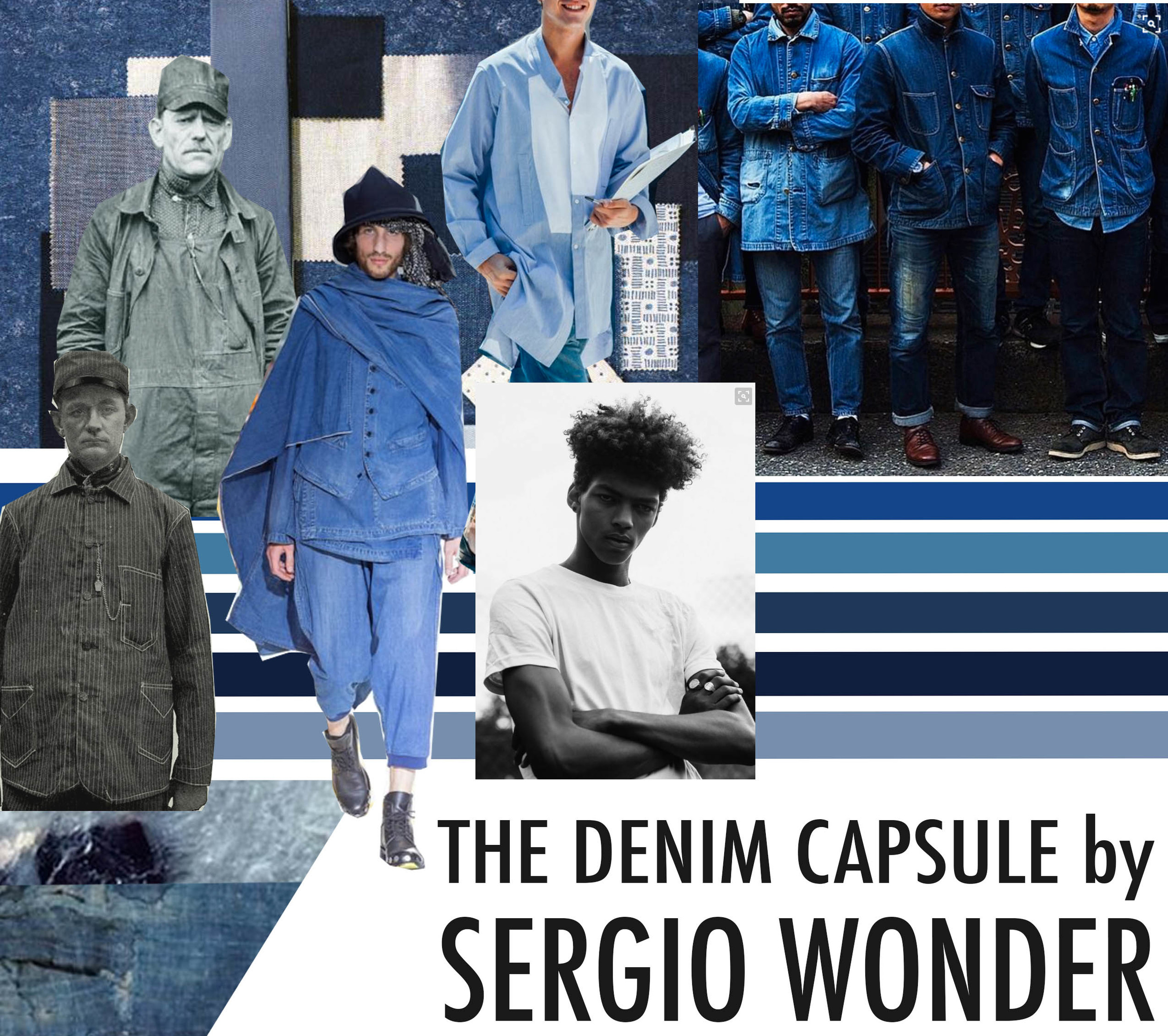 Sergio Wonder Denim Mood Board