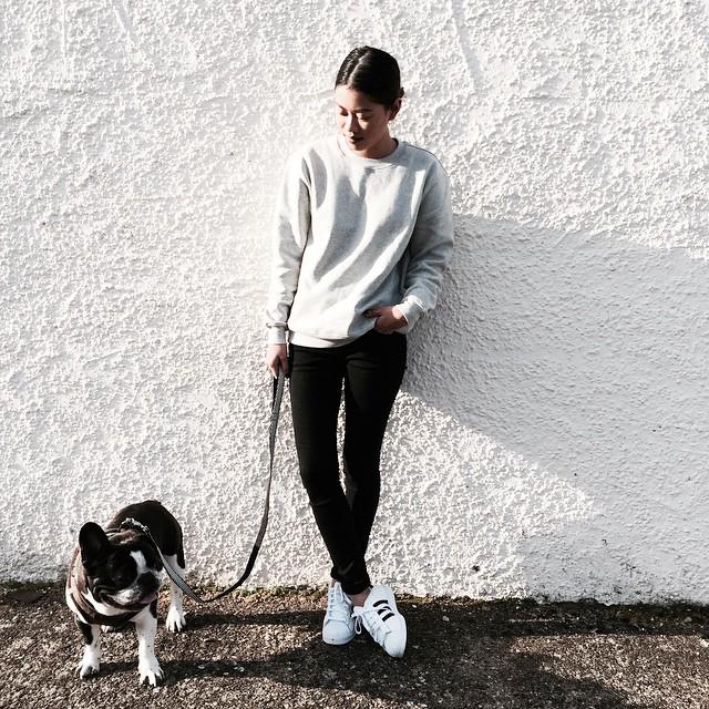 prettysickly :     Sunny friday walks with @dextermorgan_frenchie 🐶