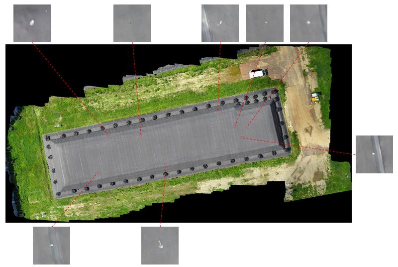 図2.シート損傷の自動検出例