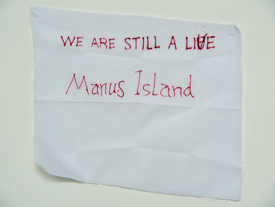 'We are still alive':  a message from Manus Island .  Photograph: David T Young/ Penny Ryan