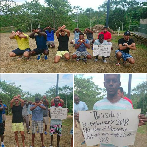 190 days of peaceful protests. East Lorengau. Manus SOS.