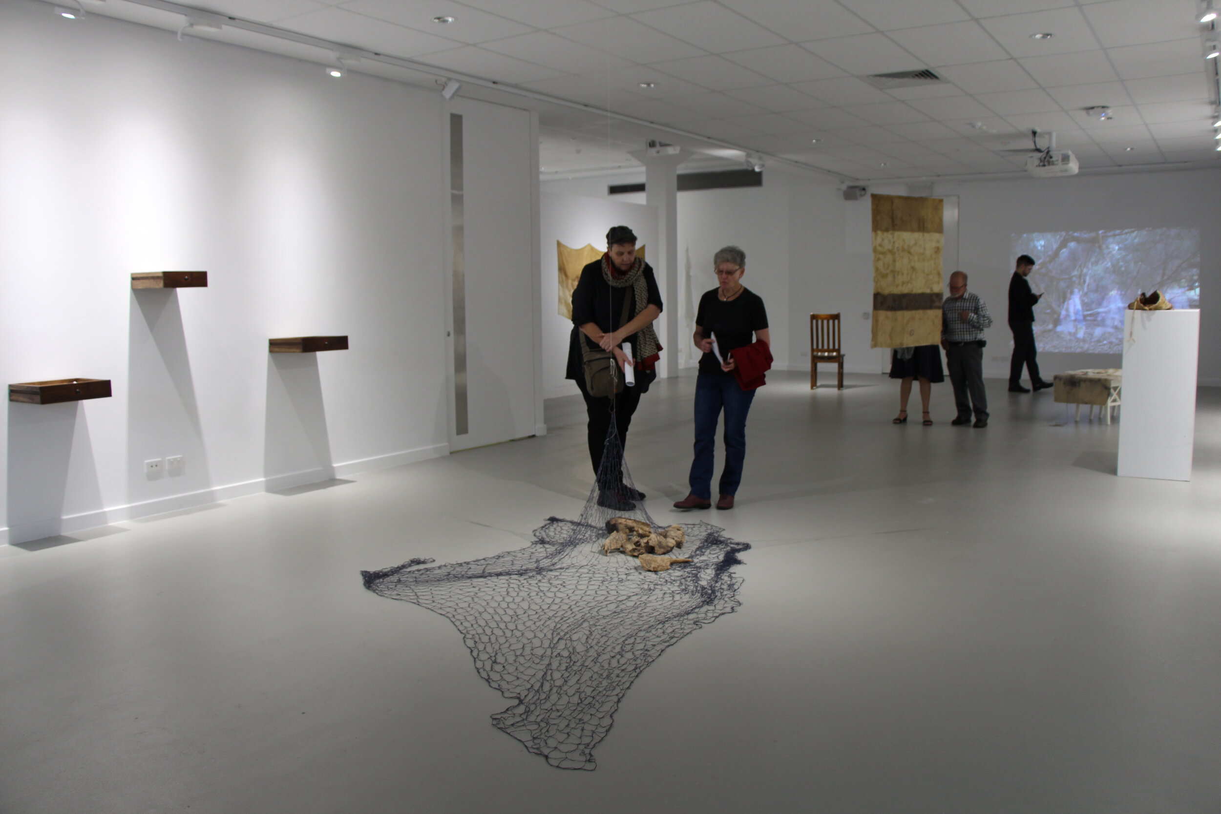 Fragmented Memories opening at Spectrum Project Space, ECU