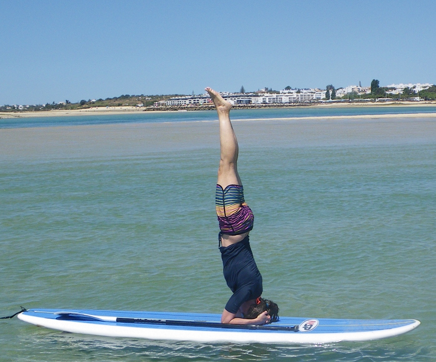 SUP Yoga in Fuseta Lagoon