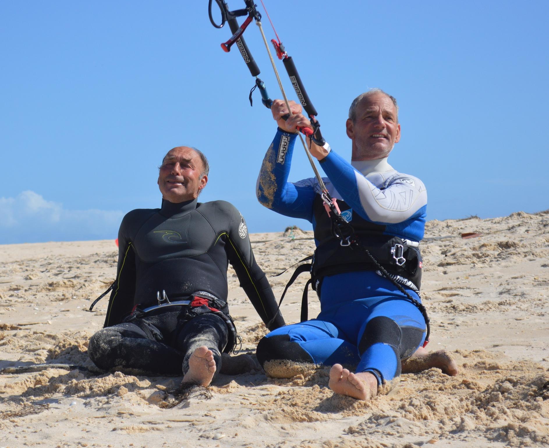 Having a break from Kitesurfing - Fuzeta Beach