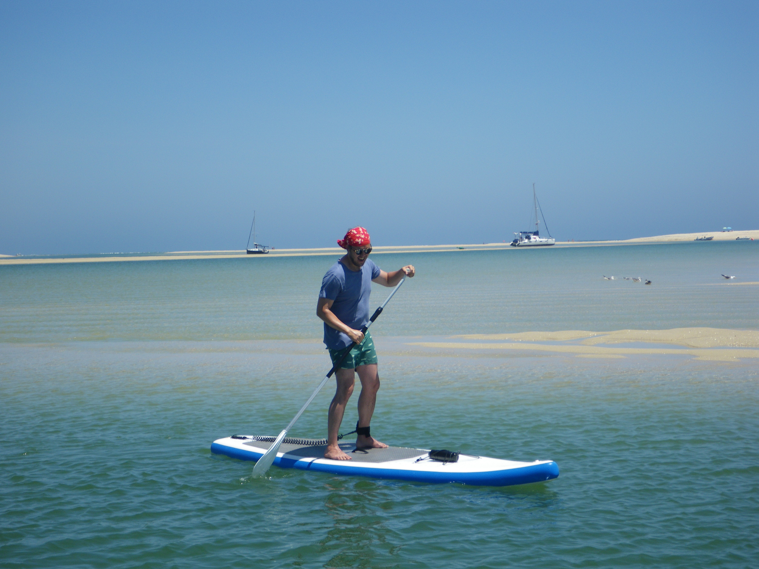 SUP lesson in Fuseta Lagoon