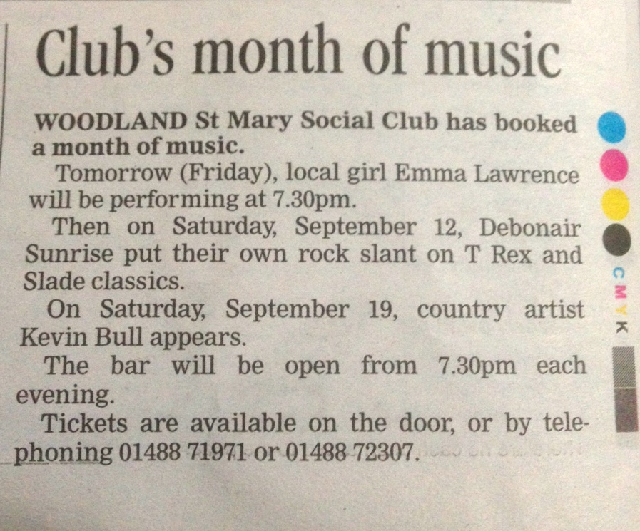 Newbury Weekly News Article