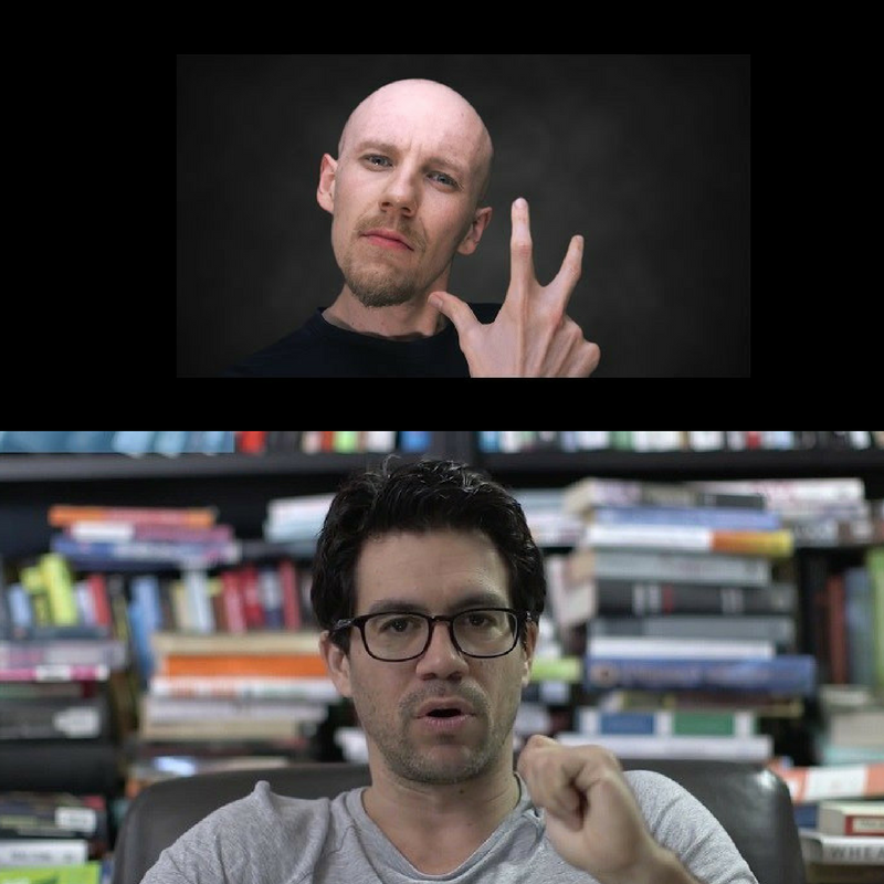 Leo of Self Actualise (Top) and Tai Lopez who runs the 67 step program.