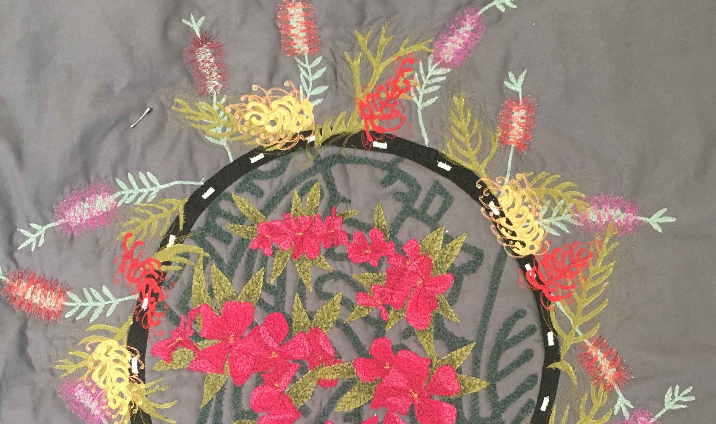 Work in progress- bottlebrush, grevillea and oleander