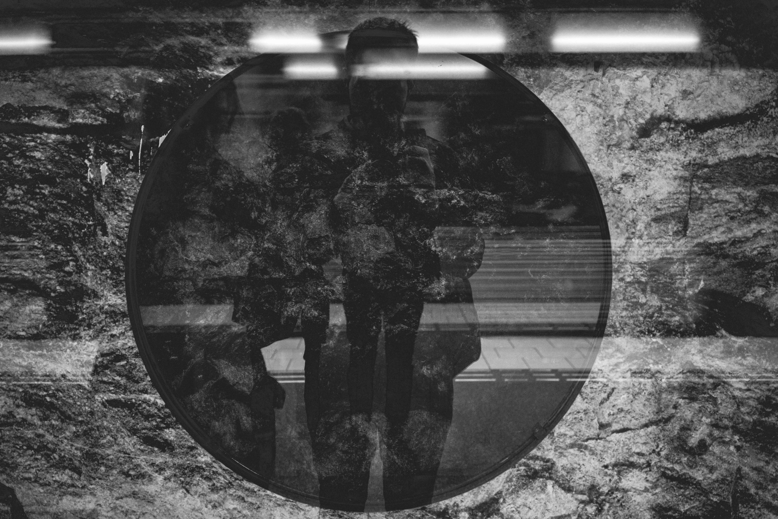 Self-portrait in a circle, Hornstull, Stockholm
