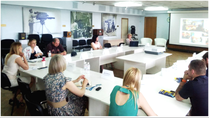ADAMI IN UKRAINE   The ADAMI Media Prize conducted an official visit to the capital of Ukraine in June 2018 to present ADAMI to the representatives of local media specialists.