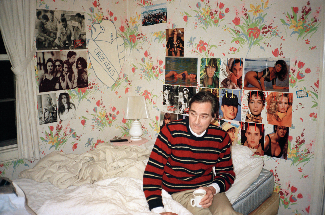 William Eggleston at home. Among being lauded for his work as a photographer, his taste in wallpaper, though lesser known, is just as deft.