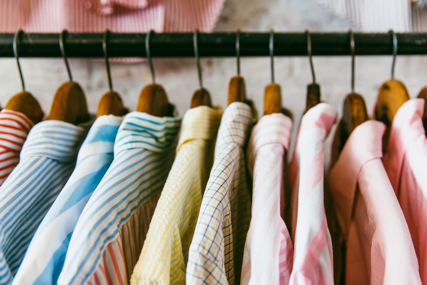Vintage Oxford cloth button downs from Gant, Brooks Brothers, and Ralph Lauren.