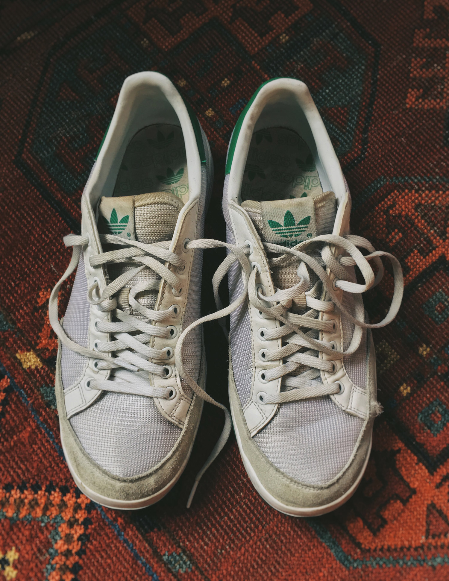My Adidas Rod Lavers, one year old.