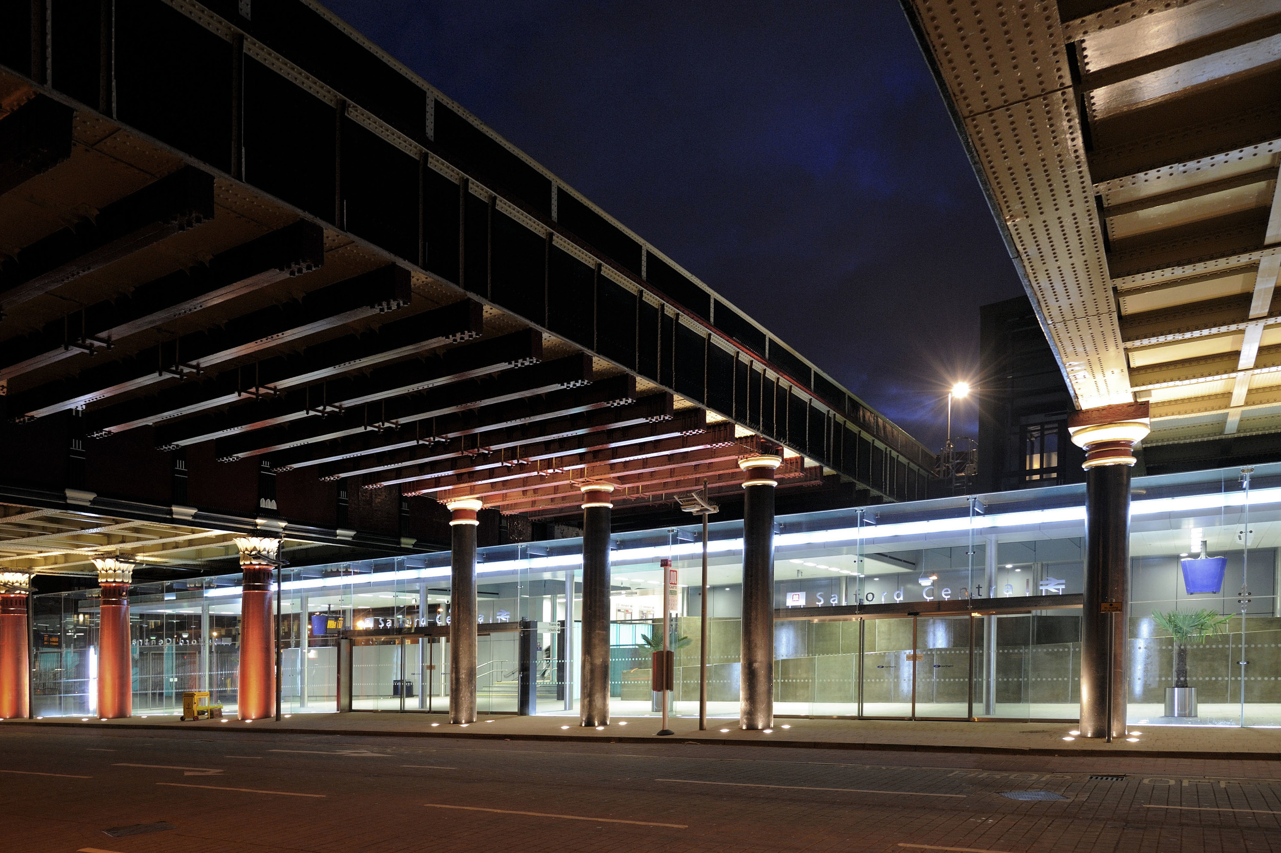 Salford Central Station at Night 3