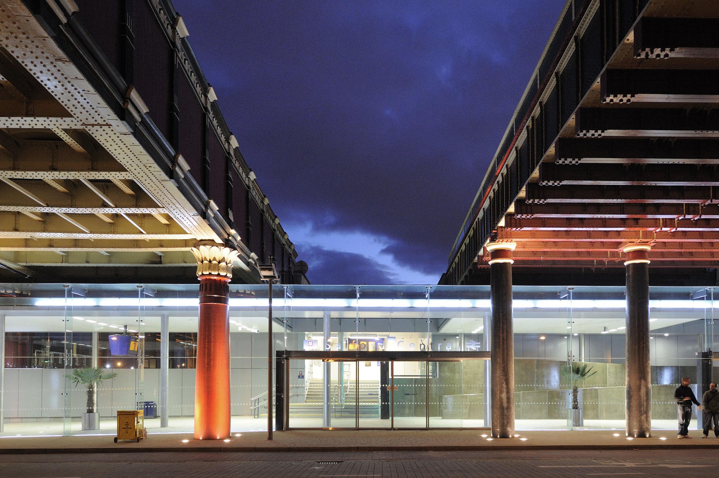 Salford Central Station at Night 2