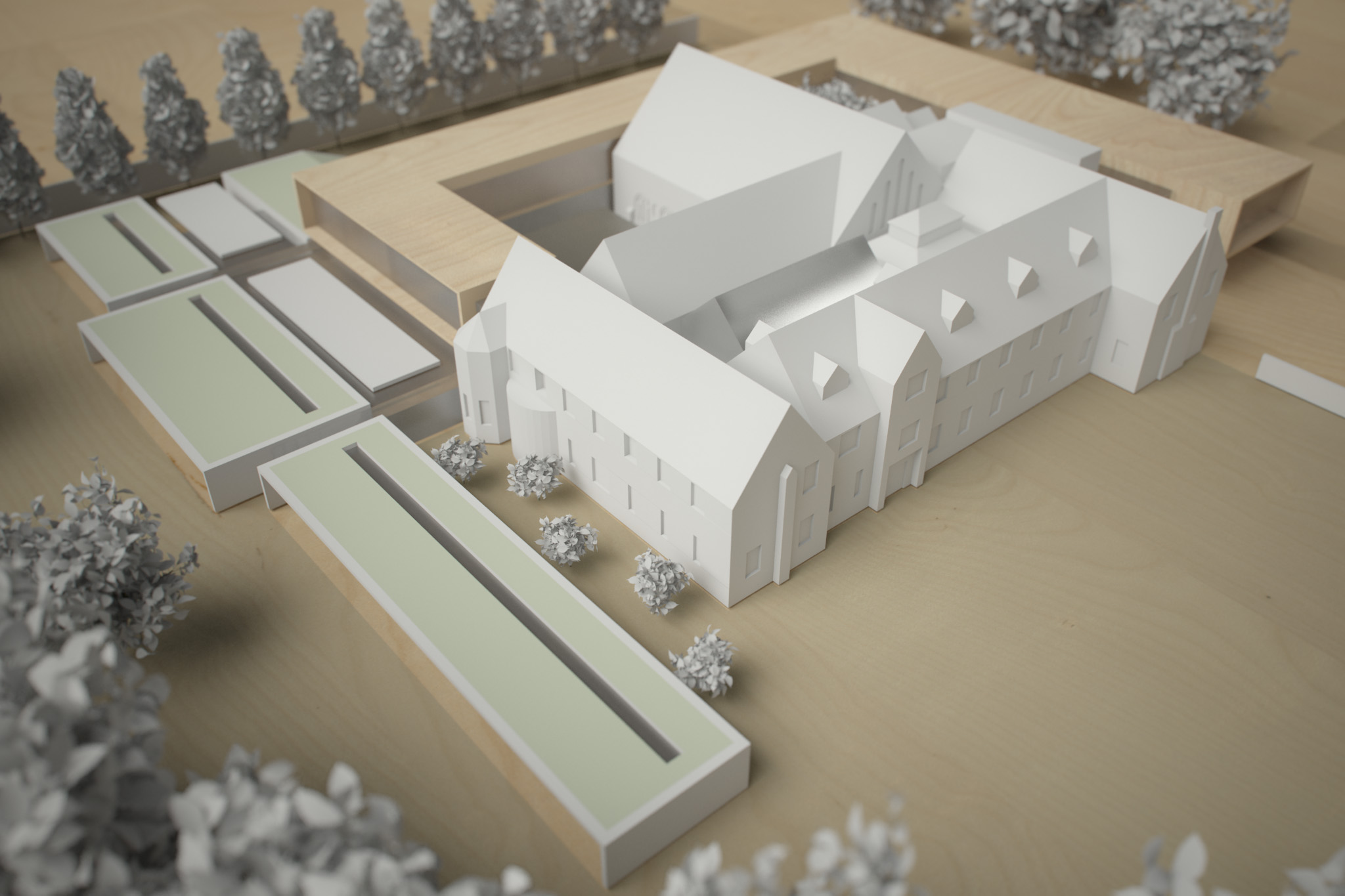 Monastery Building Conversion and Extension Liverpool Physical Model 4