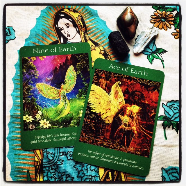 Angel Tarot - Nine of Earth, Ace of Earth
