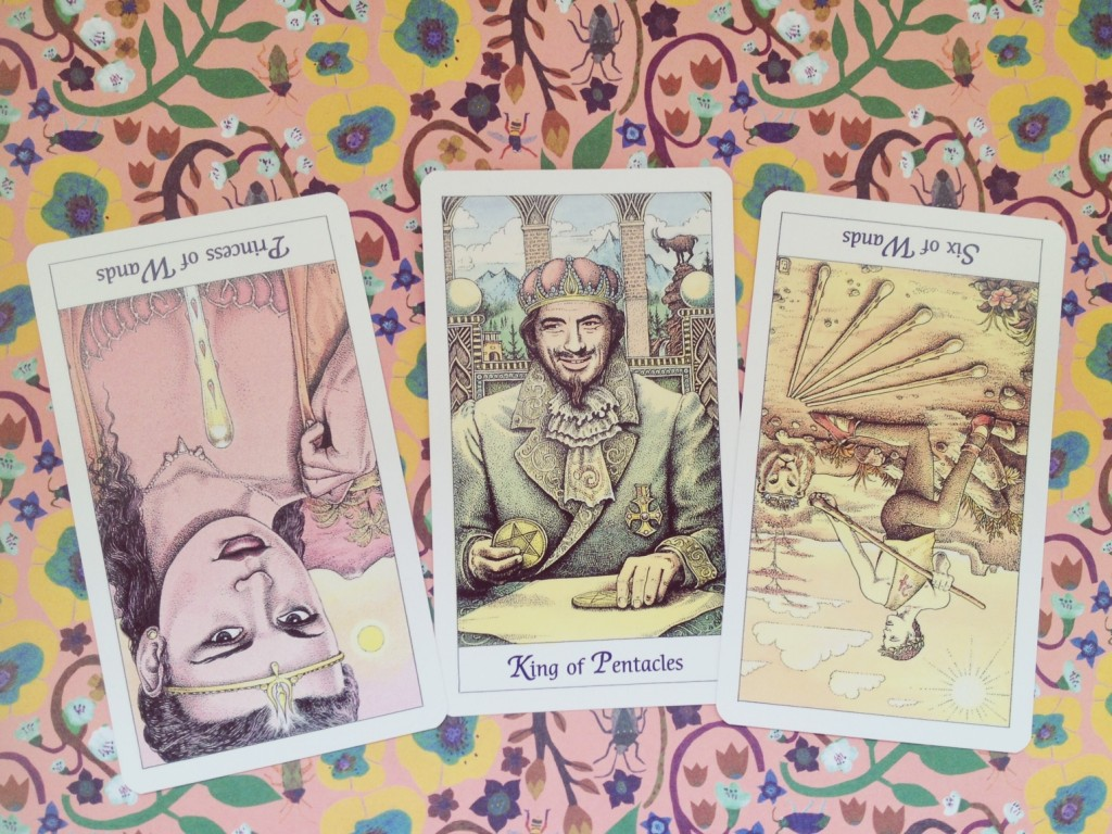 Cosmic Tarot Princess of Wands King of Pentacles Six of Wands New Age Hipster