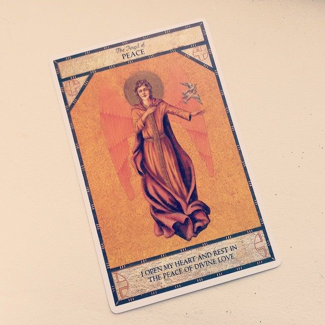 Not a bad for 29p! Just one of the cards in the Angel Oracle deck by Ambika Wauters. x