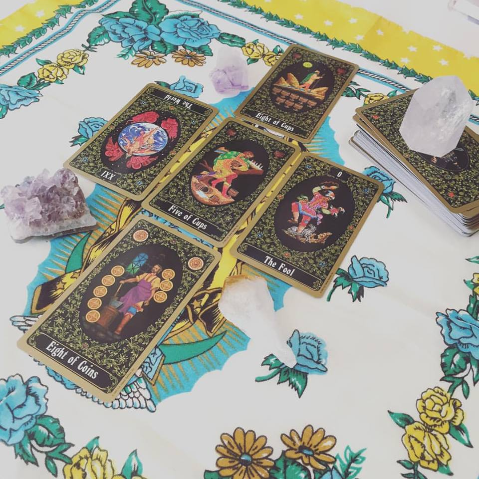 Here's one I made earlier, with the Russian Tarot of St Petersburg. x