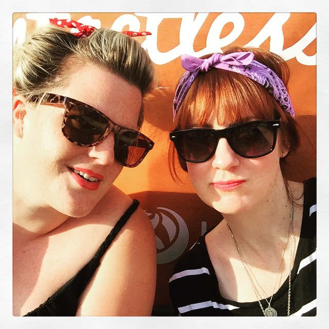 Just chilling out last summer in Hyde Park, London with my mates Toni + Tay Tay x