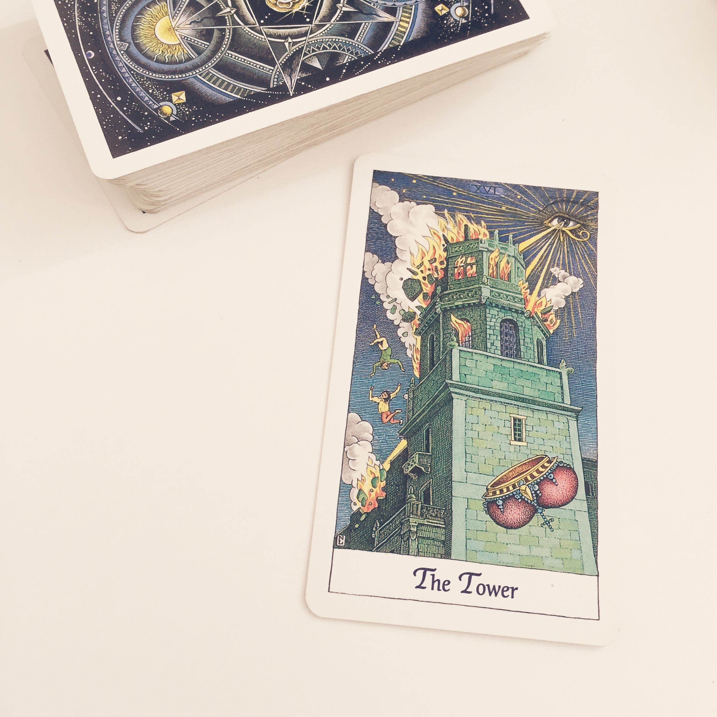 The Cosmic Tarot is my favourite version of the Tower! x