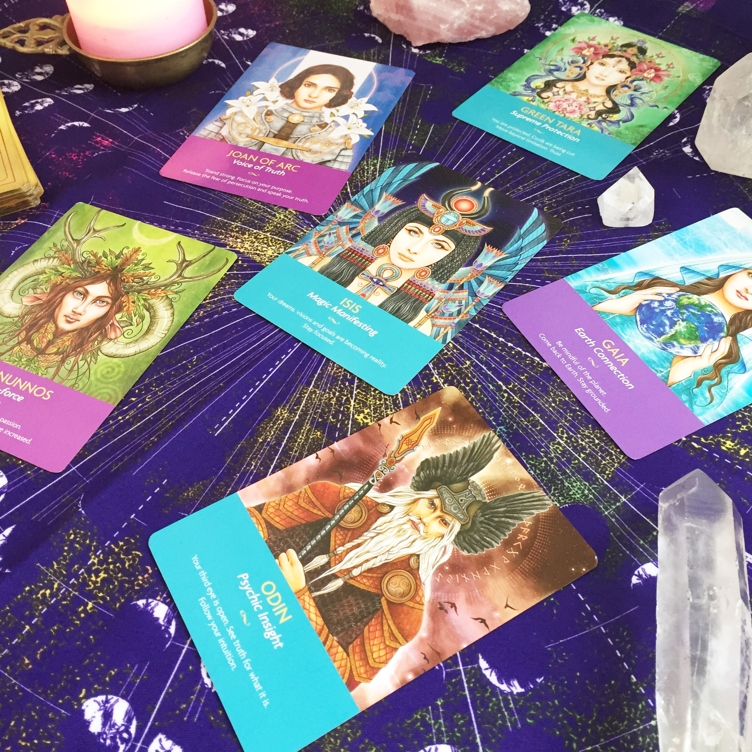 The Keepers of the Light Oracle are perfect for this spread! x