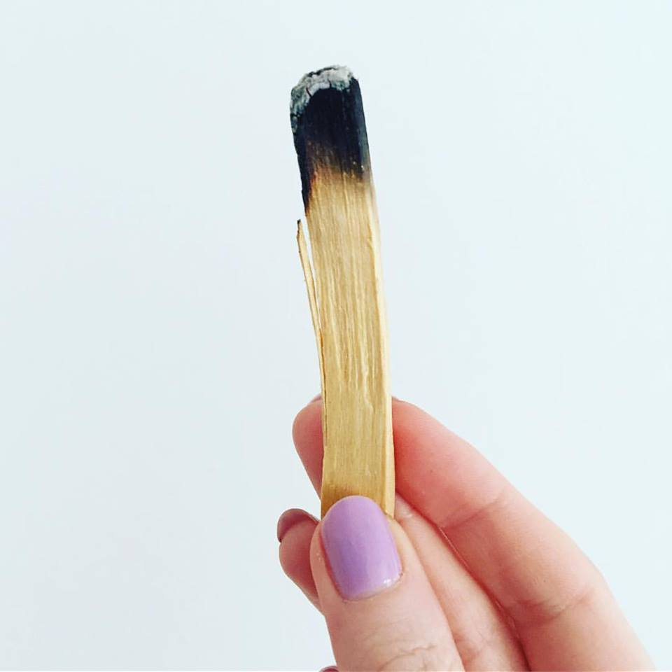 Palo Santo, one of my fave clearing tools - waft around your aura, laptop and iPhone x