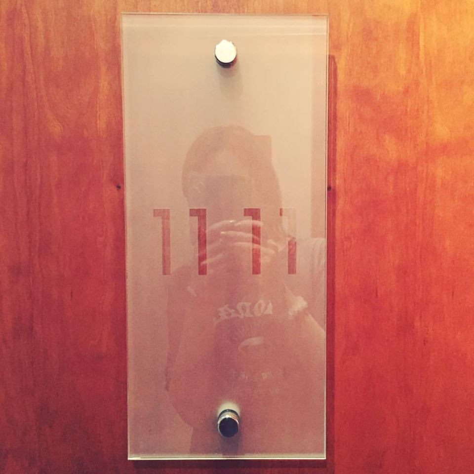 When you check in and they tell you your room is number 1111! :O