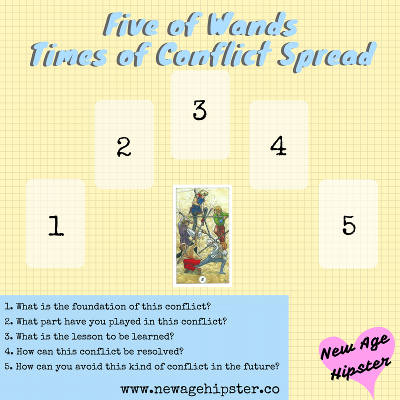 times of conflict tarot spread by New Age Hipster