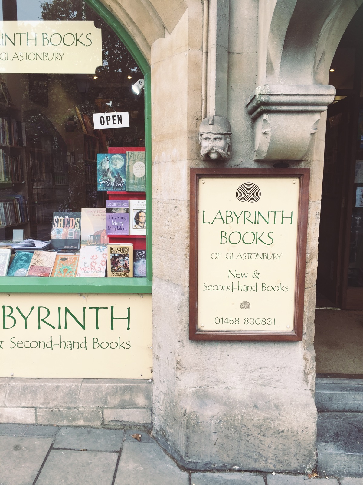 Labyrinth books Glastonbury