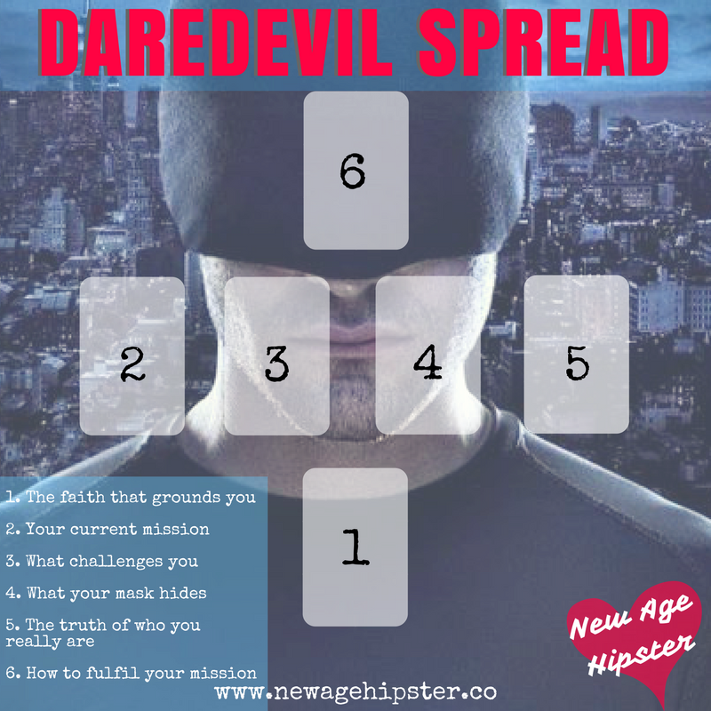 Daredevil Tarot Spread to connect with your divine mission x