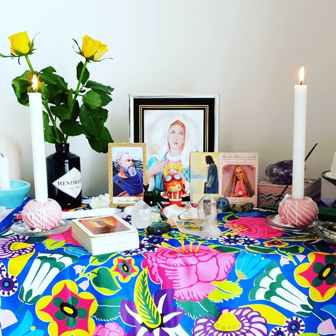 My (kinda messy but does the trick!) altar x