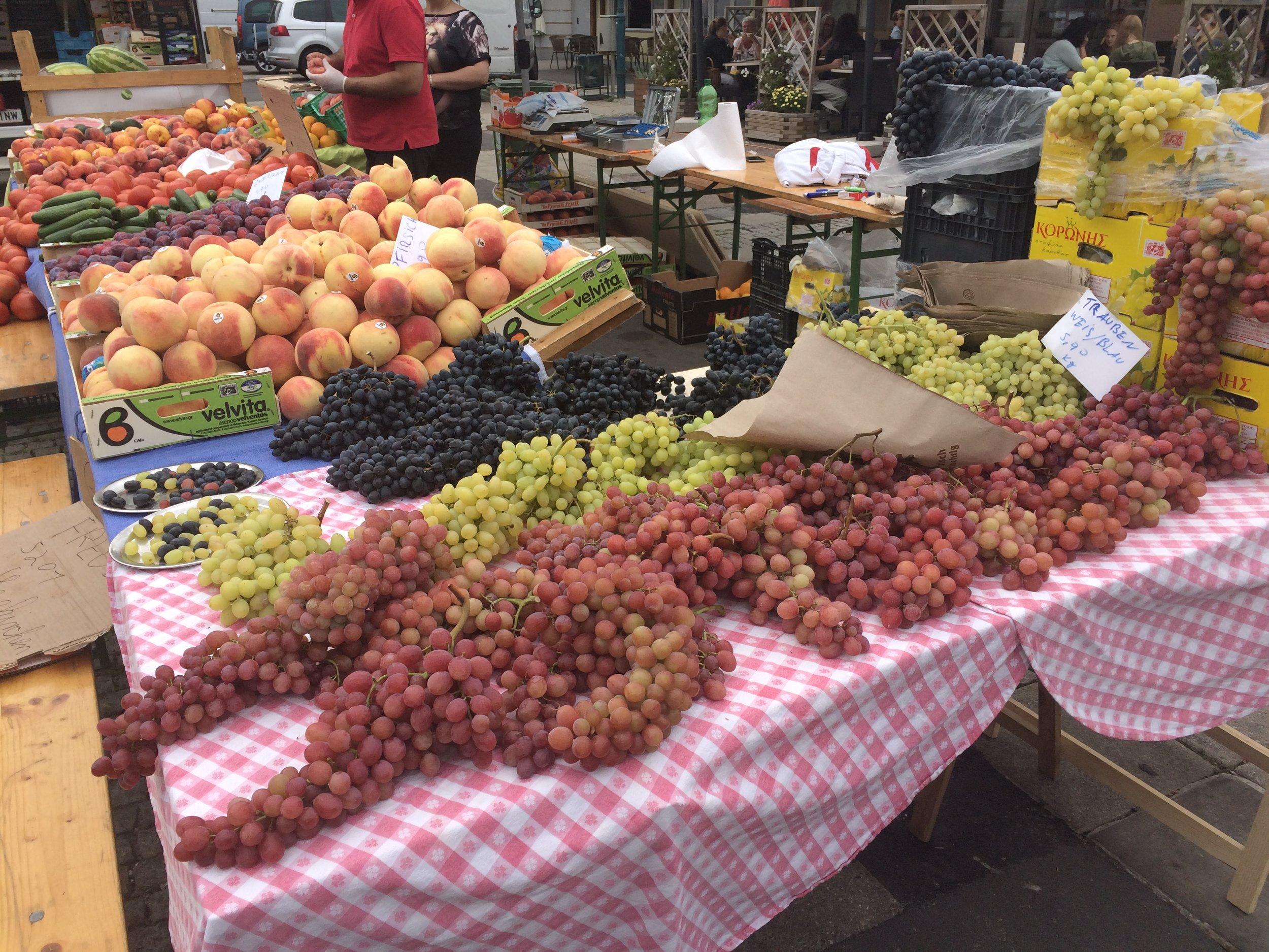 Riesen Weintrauben