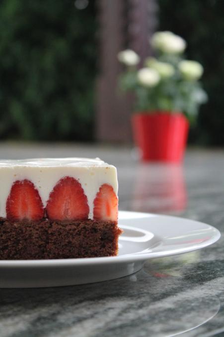Erdbeer-Rahm-Schnitte