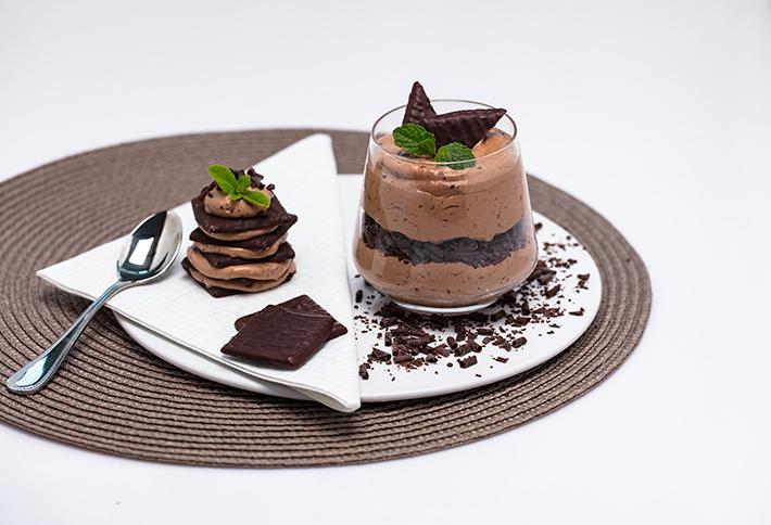 Schokolade-Minz-Creme mit After Eight