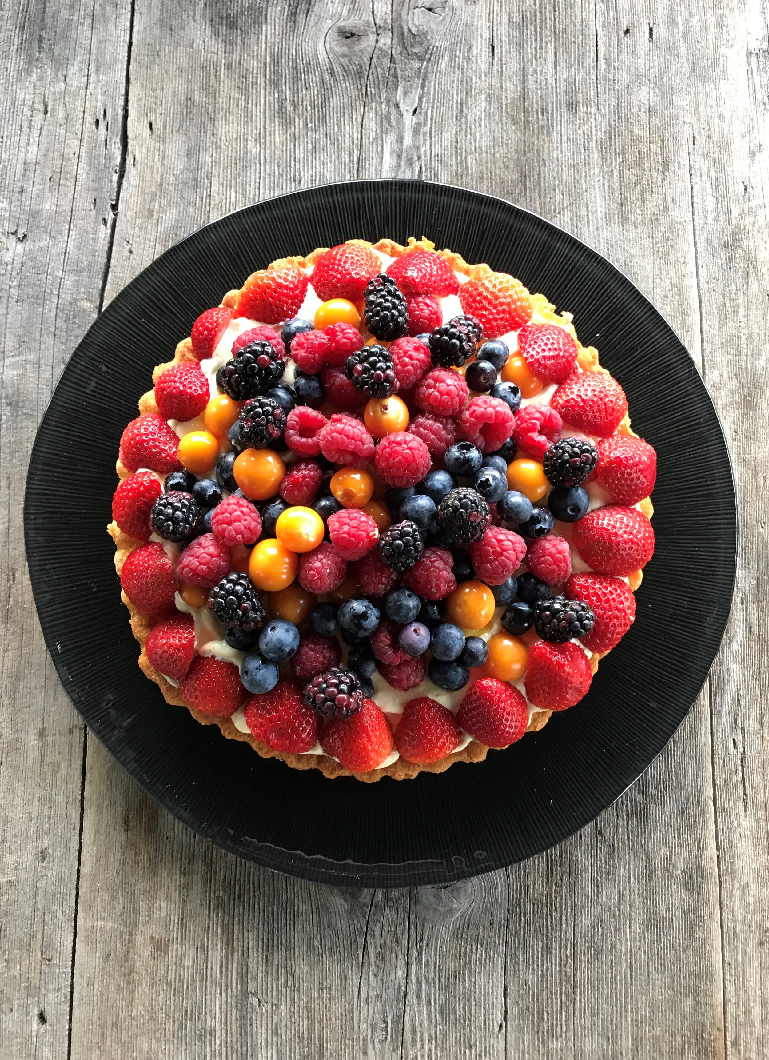 Farbenfrohe-Früchte-Tarte