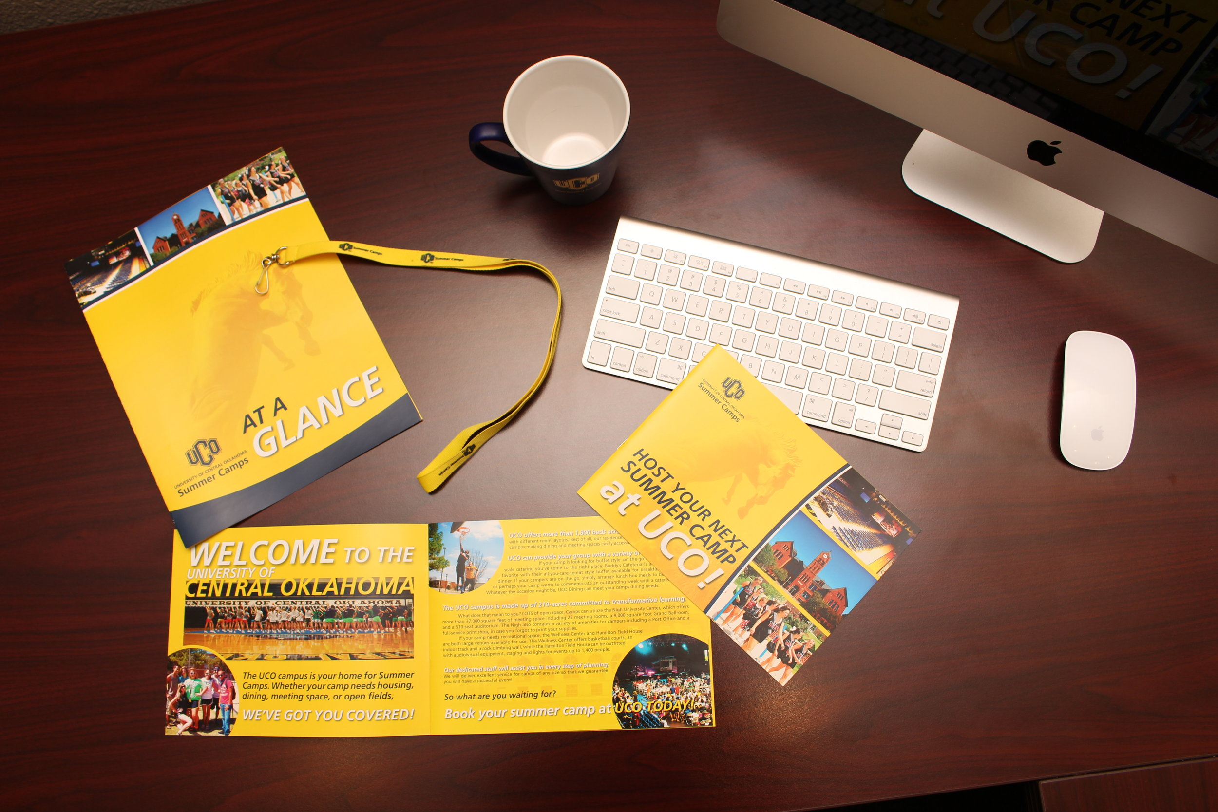 University Summer Camp Promos - Various promotional materials to encourage camps and conferences to stay on campus at the University of Central Oklahoma