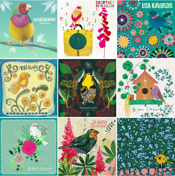 The Finch and Foxglove Team all have their signature Finch illustrations on the home page, hop over and check them out!