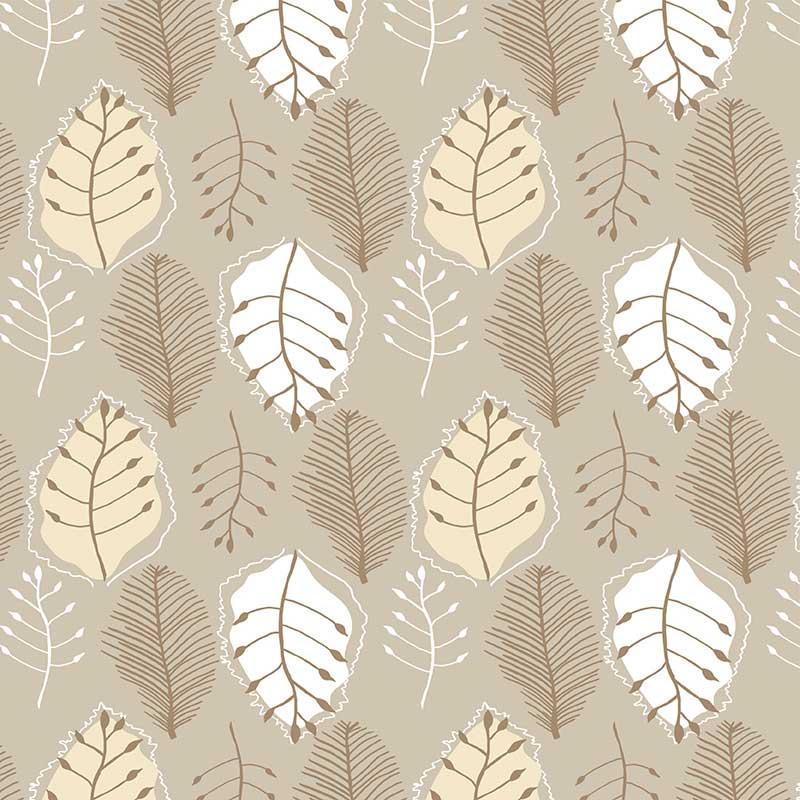 Retro Leaves - Natural Tones