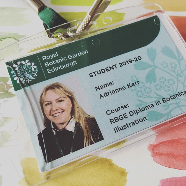 Not a bad feeling being a student again! At least for one day a week, another positive learning day @rbgedinburgh #nevertoooldtolearn #diploma #botanicalillustration #allthingsbotanical #botany